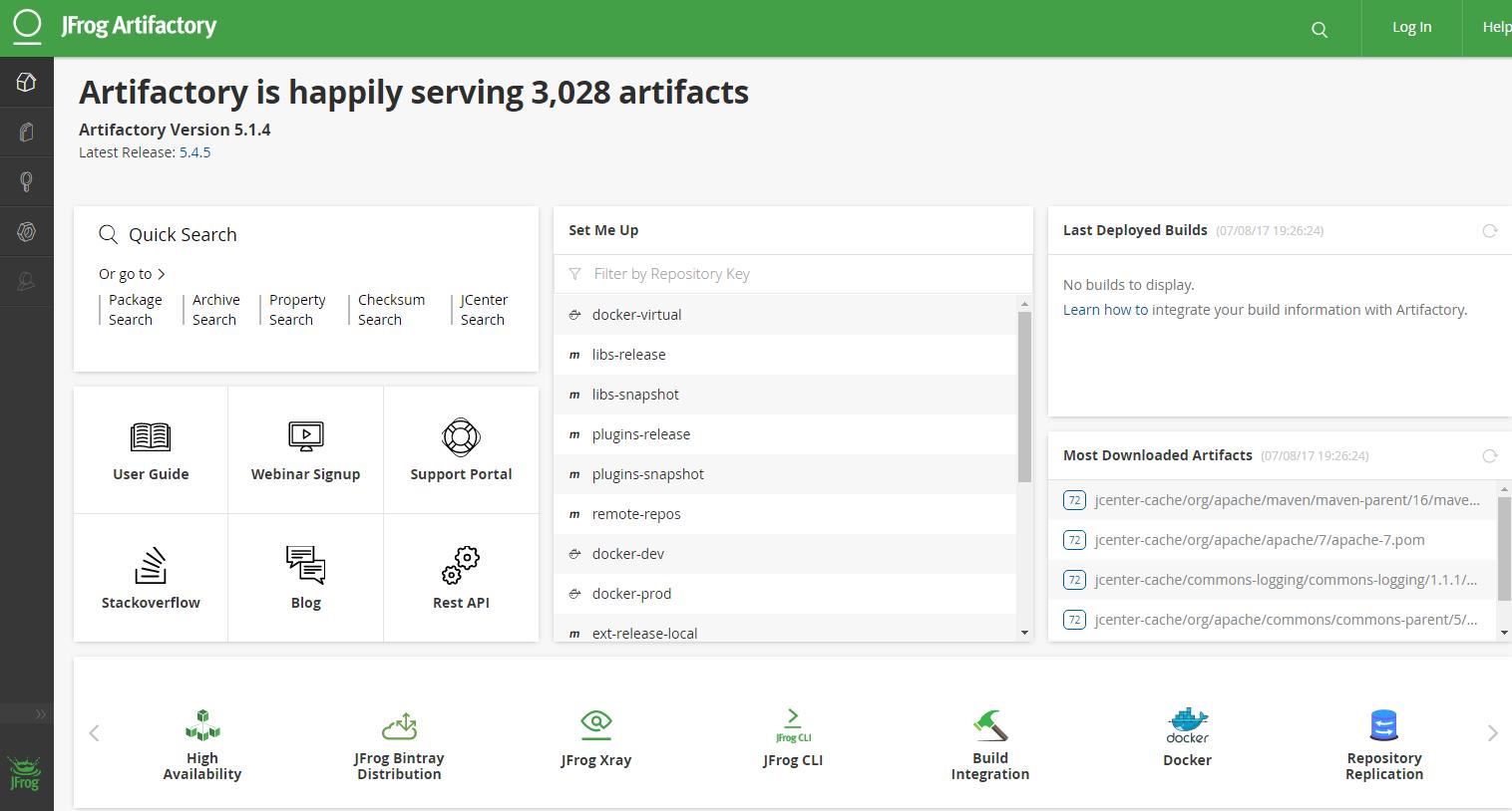 JFrog Artifactory — NetApp Jenkins Framework 2 0 documentation